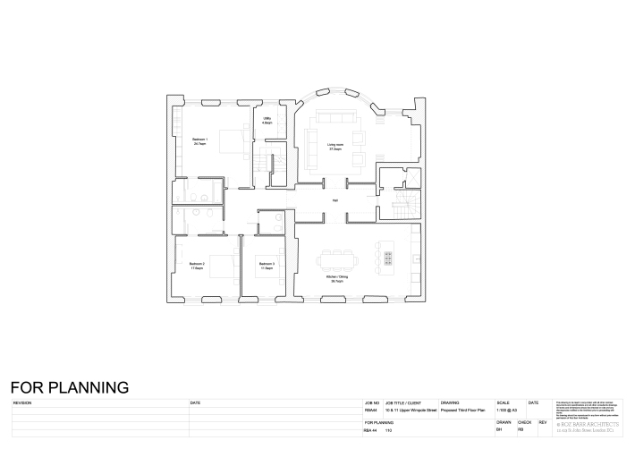 RBA44 110 Proposed Third Floor Plan